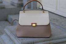 handbag white beige