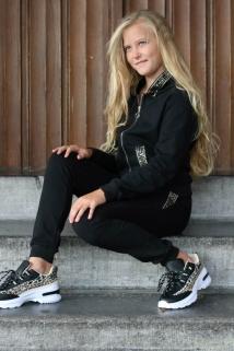 jogging black gold pajet