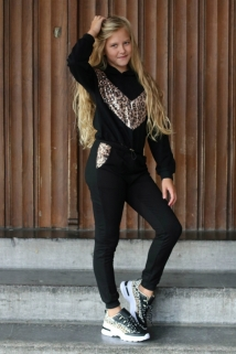 jogging black pajet leopard