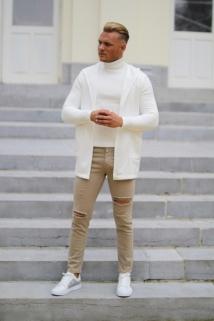 gilet white