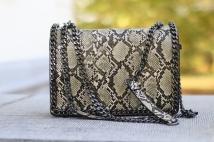 shoulderbag beige snake