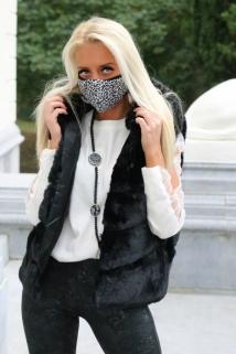mask black leopard