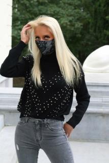 mask black grey k