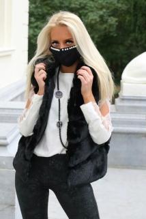 mask black peirle