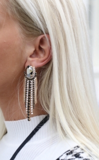 earings multi black