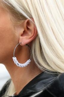 earings silver peirle