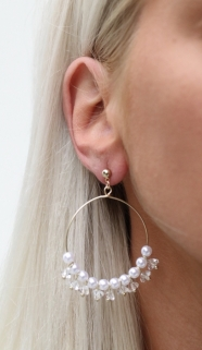 earings gold peirle7
