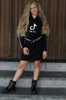 dress black silver tiktok
