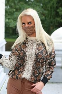 mask brown pajet