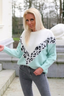 pull white /mint leopard