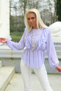 blouse lilla