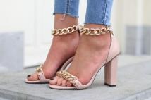 heels pink / gold