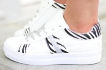 sneacker white zebra