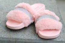 slipper pink strass