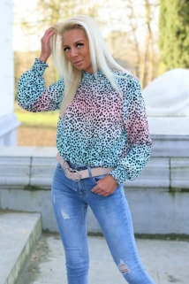 blouse rainbow blue/pink