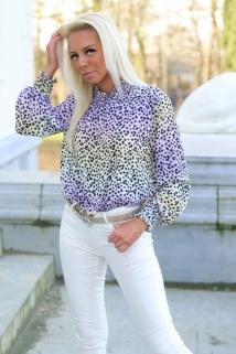 blouse rainbow lilla