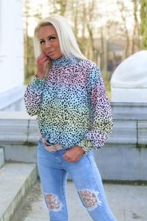 blouse rainbow multi