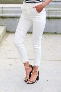 classic pants white