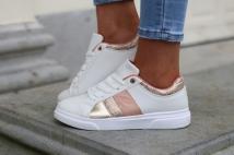 sneacker white/pink gold