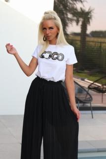 t-shirt white coco / black gold