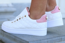 sneacker white/pink