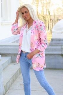 blazerjacket pink flowers