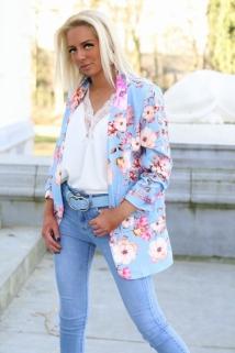 blazerjacket light blue flowers