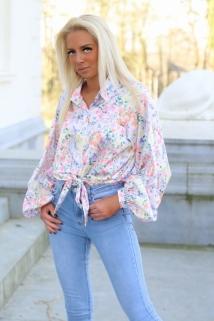 blouse multi flowers