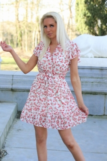 dress white/red flowers