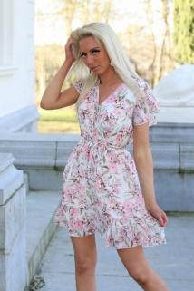 dress white / pink flowers