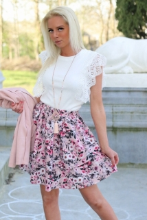 skirt roze flowers