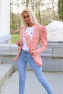 gillet blazer pink