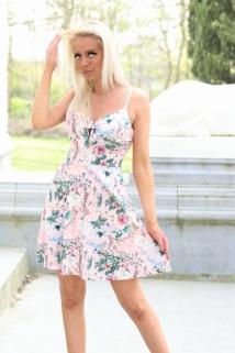 dress pink flowers /