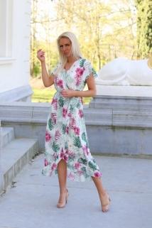 long dress multi flowers