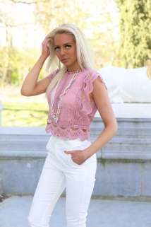 croptop roze dentail
