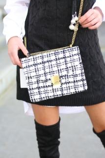 bag black white