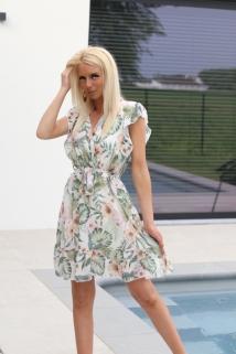 Dress white / green