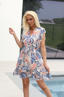 Dress blue / pink / flowers f