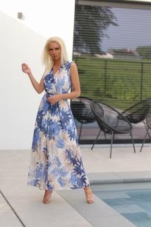 long dress high blue