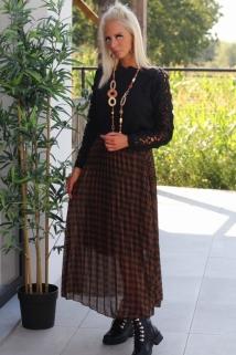 long skirt brown caro