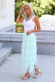 long skirt mint