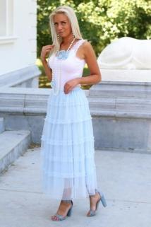 long skirt light blue