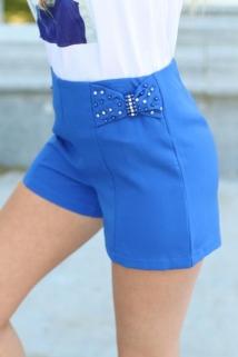 short high blue strass