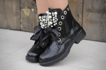 Boots black peirle / crocko
