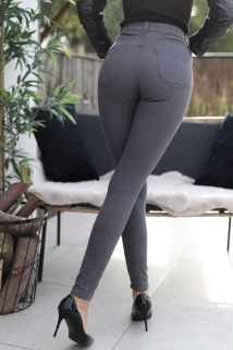 pants dark grey skinny
