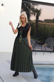 long skirt khaki leopard