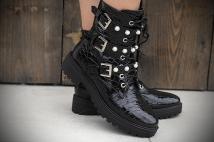boots black / crocko peirle / 2
