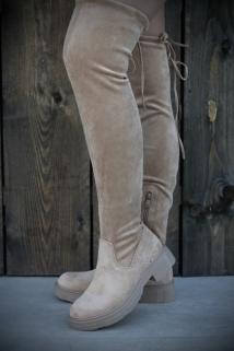 Long Boots Beige