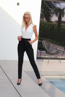 Jumpsuit white / black k / fr