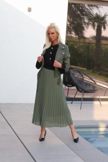 long skirt khaki